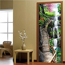 LLWYH Türaufkleber Tür 3D Wasserfallansicht