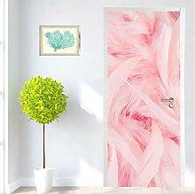 LLWYH Türaufkleber Tür Rosa Feder Kreative PVC