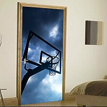 LLWYH Türaufkleber Türtapete 3D Basketball Rack