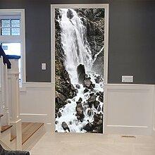 LLWYH Türaufkleber Türtapete 3D Wasserfall