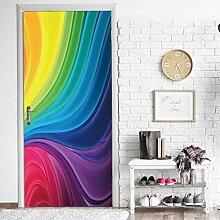 LLWYH Türaufkleber Türtapete Farbmuster Kreativ