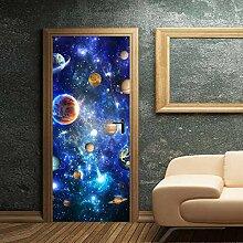 LLWYH Türaufkleber Türtapete Planetary Universe