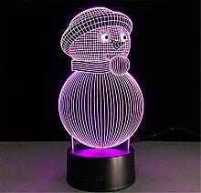LLY Weihnachten Schneemann 3D Lampe