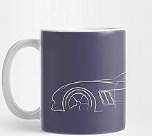 Llynice Chevy C6 Corvette - Profilschablone, weiß