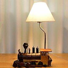 LLYU Kreative Retro-Zug Tischlampe Kinderzimmer