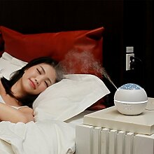 LLZJSQ Creative/Geschenk/New/Atmosphäre/Nacht/Home/Luftbefeuchter/Schlafzimmer/Mini/Licht/Aromatherapie, B