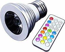LLZLL 10PCS E27 21 wichtigsten RGB-LED-Strahler,