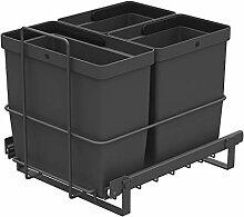 LM 64/3 Einbau Mülleimer ausziehbar mit 3
