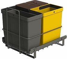 LM 64/3a Einbau Mülleimer ausziehbar mit 3