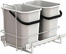 LM 66/2 Einbau Mülleimer weiß ausziehbar Duo