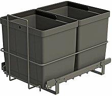 LM 79/2 Einbau Mülleimer ausziehbar mit 2x16L