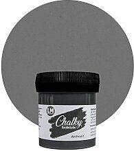 LM-Kreativ Chalky Kreidefarbe 80ml (Anthrazit) - -
