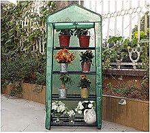 LMDE Outdoor Tragbare Gewächshaus,4 Etagen Mini