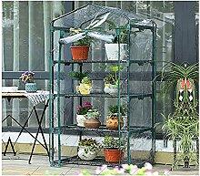 LMDE Tragbare Mini Folienzelt Gewächshaus,Outdoor