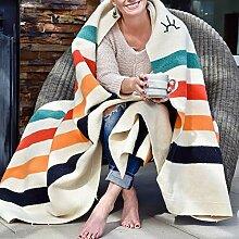 LMDY Wolldecke Dicke warme Sofabezugdecke