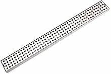 LMIAOM Edelstahl-Flieseneinsatz-linearer Duschrost