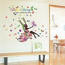 LMISTA Mädchen Blume Abnehmbare Wohnzimmer