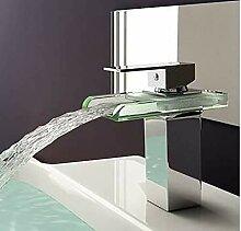 LMK Wasserhahn, Kupferglas Wasserfall Warm- und