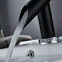 LMK Wasserhahn mit schwarzem Waschbecken