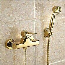 LMK Wasserhahn vergoldet Messing Badezimmer