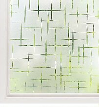 LMKJ 3D Kreuzmuster matt dekorative Fensterfolie,