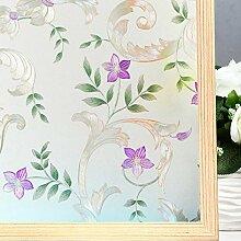 LMKJ Blumentextur Fensterfolie Mattierte