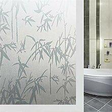 LMKJ Opake Bambus dekorative Fensterfolie Vinyl
