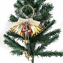 LMSHM Weihnachts Dekoration 25 Cm Rot Gold Jingle