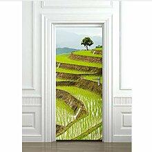 LMTQAZQ 3D Tür Aufkleber Felder Für Schlafzimmer