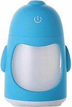 LN Usb Mini Buntes Nachtlicht Pinguin Luftbefeuchter Saubere Luft Kreative Hausbefeuchter,Blau