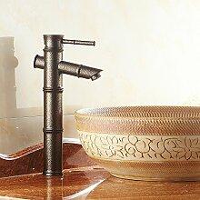 LNC Nostalgie Retro bronziert Wasserhahn Bambus