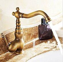 Lncaong Alle Kupfer Wasserhahn, Waschbecken Wasserhahn, Antike Wasserhahn, Heiße Und Kalte Waschbecken, Waschbecken Und Wasserhahn, Sitzbank Wasserhahn
