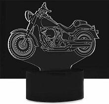 LNHYX 3D Design Motorrad Auto Form Nachtlicht