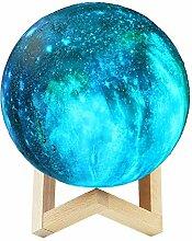 LNHYX 3D Print Mond Lampe Kinder Nachtlicht Inkjet