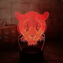 LNHYX 3d tier lion haus dekor usb lampe spielzeug