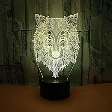 LNHYX 7 farben ändern wolf design 3d visuelle led