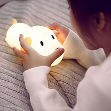 LNHYX Dimmbare Led Nachtlicht Lampe Touch Silikon