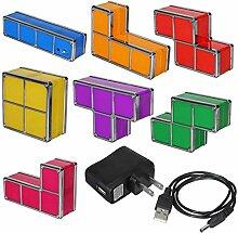 LNHYX Diy Tetris Puzzle Licht Stapelbar Führte