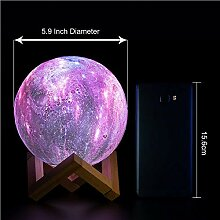 LNHYX Fernbedienung 16 Farben Stern 3D Mond Lampe