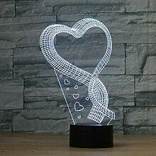 LNHYX Romance Love Shaped Handmade 3D Bulbing