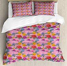 LnimioAOX Englisch Garten Bettbezug Set, Creative