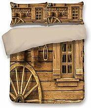 LnimioAOX Set aus Bettbezug, Khaki-Rücken,