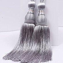 LnLyin Luxuriöse Vorhänge Raffhalter Seil Quaste