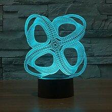 LNLZ 4 Kreise von abstrakten bunten 3D-Leuchten