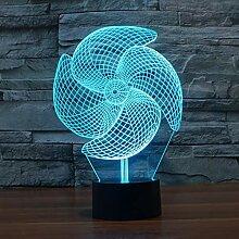 LNLZ Big Pinwheel 3D-Licht Bunte Note Aufladung
