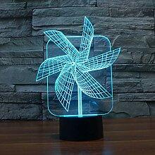 LNLZ Big Pinwheel 3D-Licht kreative