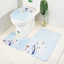 LNTE 3-teiliges Badteppich-Set, Badezimmer