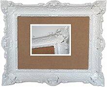 Lnxp Antik Barock BILDERRAHMEN in Weiß 56x46cm