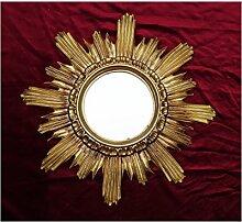 Lnxp BAROCK ANTIK WANDSPIEGEL Sonne IN Gold 42x42