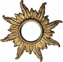 Lnxp BAROCK ANTIK WANDSPIEGEL Sonne IN Gold 56x56
